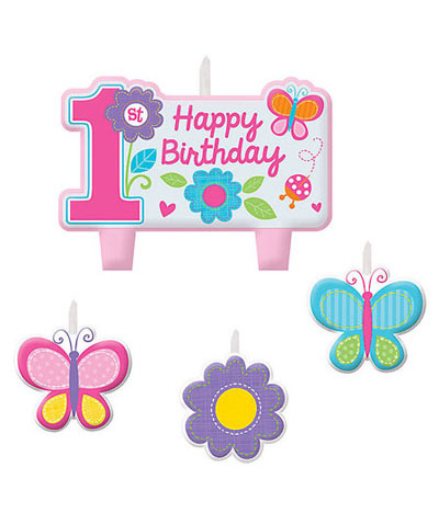 Candle Set - Sweet 1st Birthday Girl