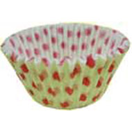 #550 White/Red Dot Cakecups