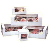 Twelve Mini Cupcake Box Windowed