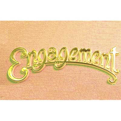 Gold Engagement Scroll