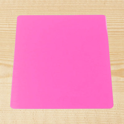 "Pink Acrylic 6"" Square Board"