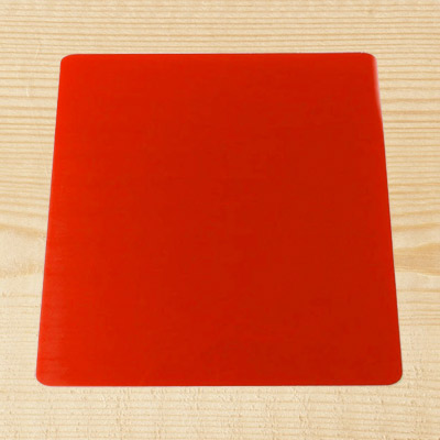 "Red Acrylic 6"" Square Board"