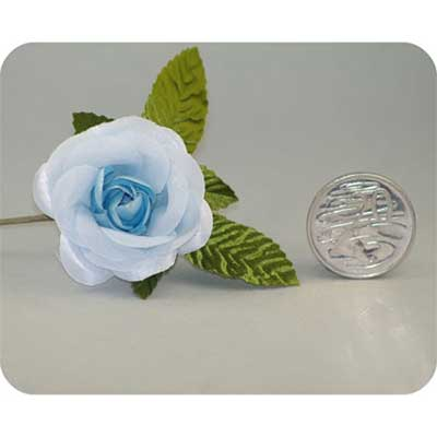 Blue Medium Open Rose