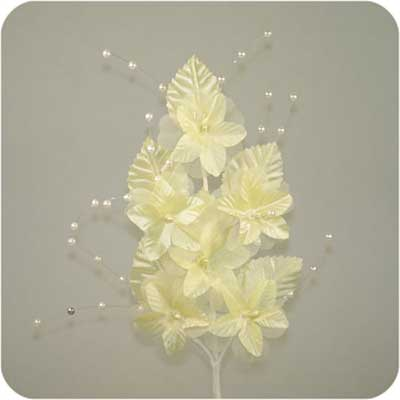 Lemon Beaded Straflower Spray