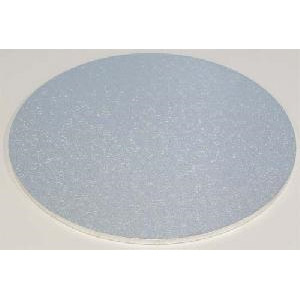 "13"" Silver Round 4mm Thick Wooden Cakeboard"