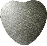 Silver Heart Board 6mm Thick Wooden Board