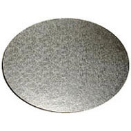 Oval Silver 6mm Cake Board