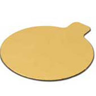 80mm Gold Round Tabbed Board