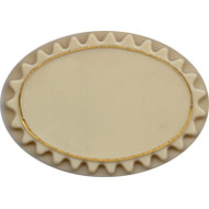 Oval Fluted Base.  Cream