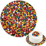 "Multi Coloured Gumballs 12"" Cakeboard"