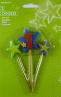 #1 Star Candle Short Stick