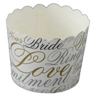 Wedding Words Cupcake Cases