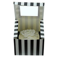 Black & White Single C/cake Box
