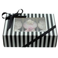Black & White 6 Cupcake Box