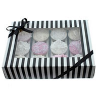 Black & White  12 Cupcake Box