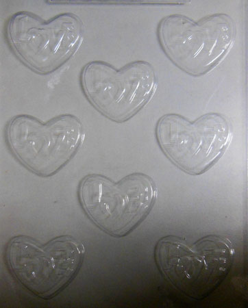 Love Hearts Chocolate Mould