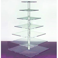 7 Tier Square Acrylic Cupcake Stand