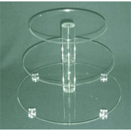 3 Tier Round Acrylic CC Stand