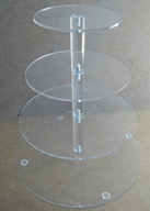 4 Tier Round Acrylic CC Stand