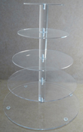 5 Tier Round Acrylic CC Stand