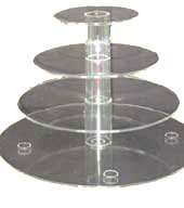 4 Tier Clear Acrylic Cupcake Stand Hire