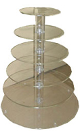 6 Tier Acrylic Cupcake Stand Hire