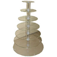7 Tier Acrylic Cupcake Stand Hire
