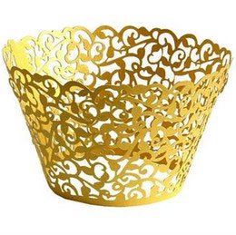 Gold Vine Cup Cake Wrap