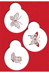 Small Butterfly Stencils 2.5""