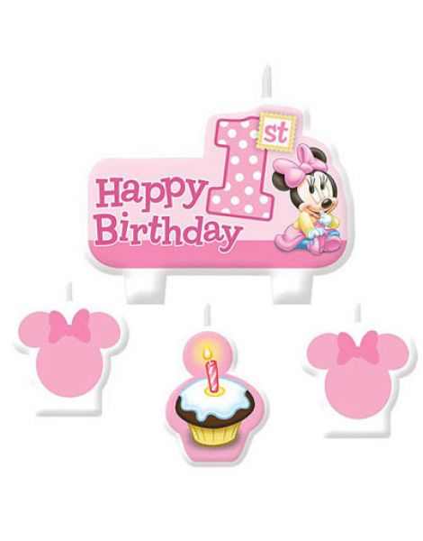 Candle Set - Minnie 1st Birthday