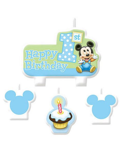 Candle Set Mickey Mouse 1st Birthday