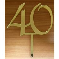 """40"" Gold Mirror Acrylic Cake Topper"