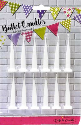 White Bullet Candles