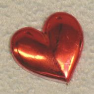 Solid Plain Heart Red