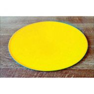 "Yellow Acrylic 6"" Round Board"