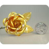 Gold Medium Open Rose