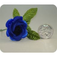 Dark Blue Open Rose