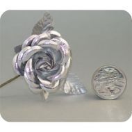 Silver Medium Open Rose