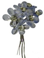 Blue Clear Acrylic Flower Bunch
