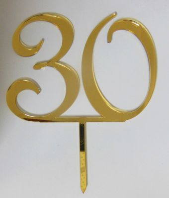 """30"" Gold Mirror Acrlic Cake Topper"