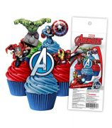 Avengers Wafer Cupcake Toppers