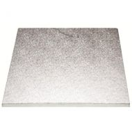 "4"" Silver Square 4mm Thick Wooden Cakeboard"