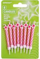 Pink Star Candles