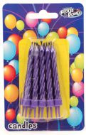 Violet Small Spiral Candles