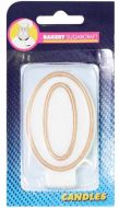 #0 Gold Edged Numeral Candle