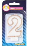 #2 Gold Edged Numeral Candle