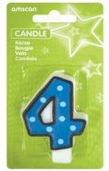 #4 Numeral Candle With Dots