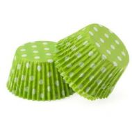 #550 Green/White Dots Cakecup