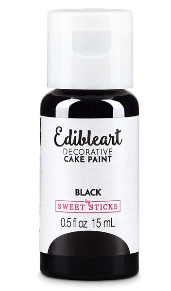 Black Edible Art Paint