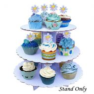 Blue with White Dot Cupcake Stand